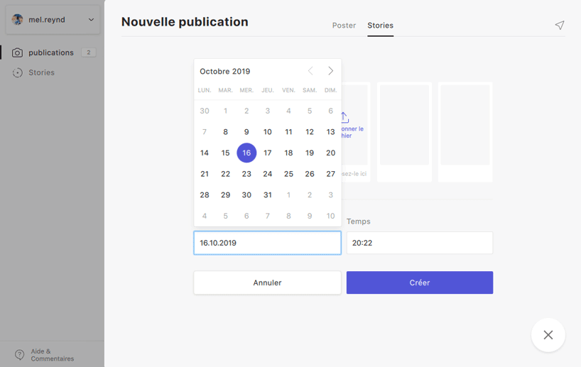 planification date publication instagram combin