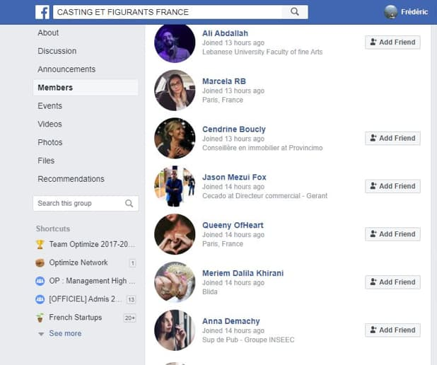 prospects groupe Facebook
