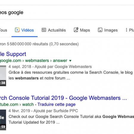 Search Console : 2 nouveautés et rapports dédiées aux vidéos !
