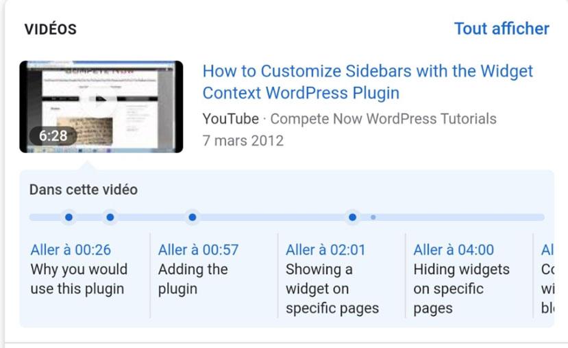 Ajout sommaire sur vidéo YouTube