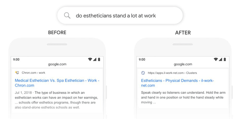 exemple impact google bert