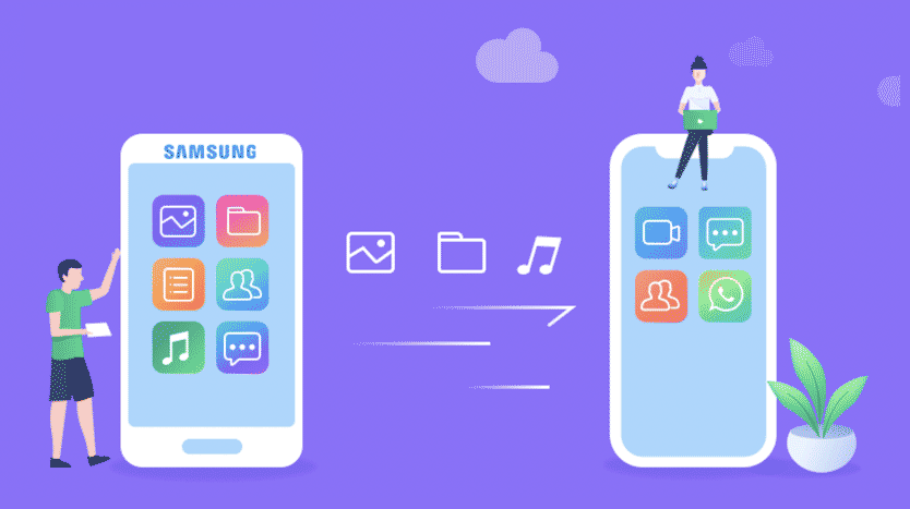 transférer données samsung iphone