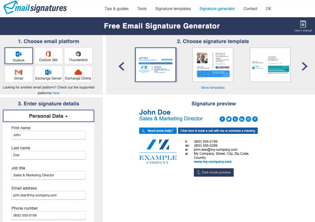 Mail Signatures générateur de signatures mails
