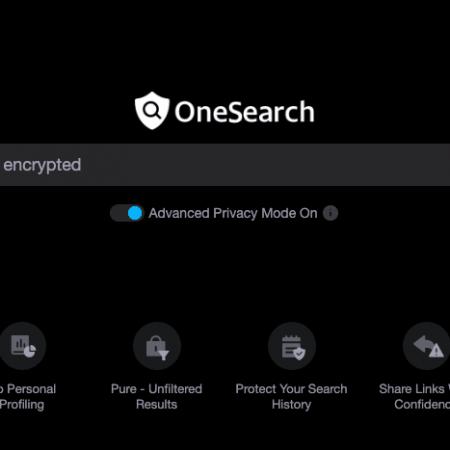 OneSearch : le nouveau moteur de recherche qui crypte vos recherches !