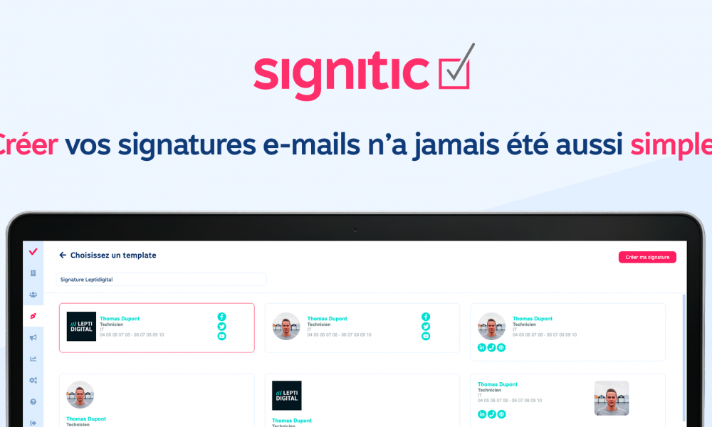 signitic signature email