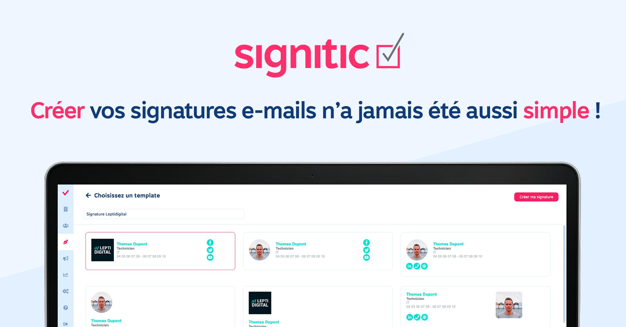 signitic signature email