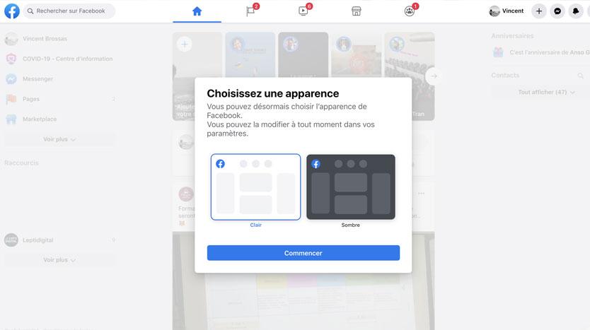 nouveau facebook ordinateur