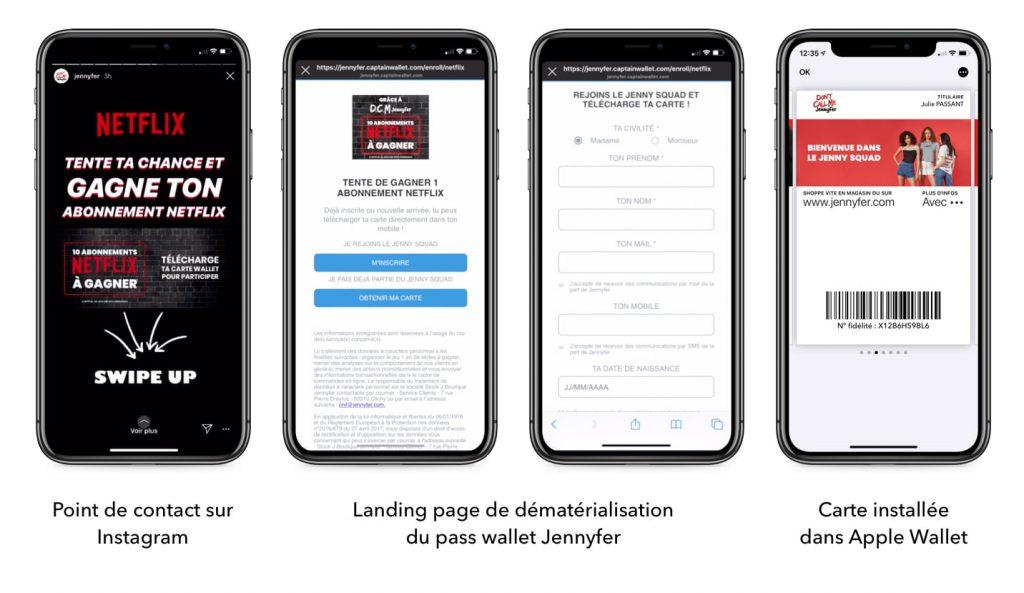 Acquisition de nouveaux clients sur wallet mobile grâce à Instagram