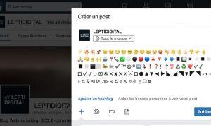 emojis symboles linkedin