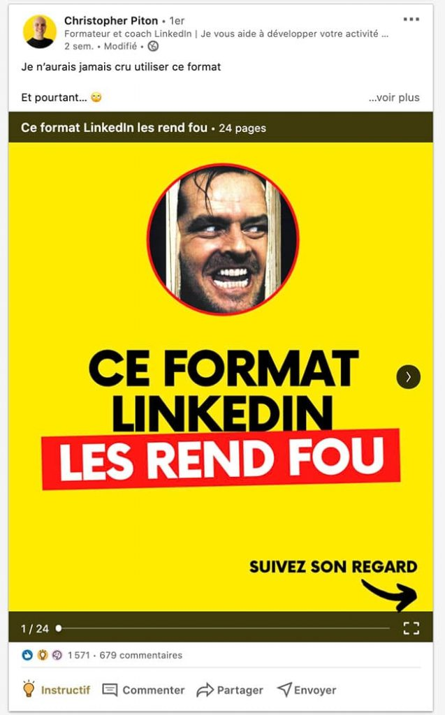 carrousel linkedin exemple