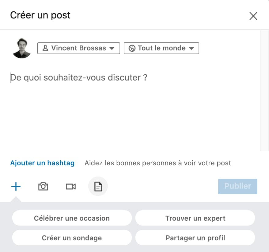 partage document linkedin carrousel