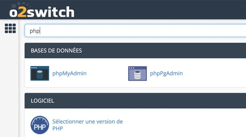 changer version php hébergement o2switch