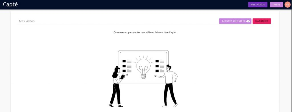 capte interface utilisateur