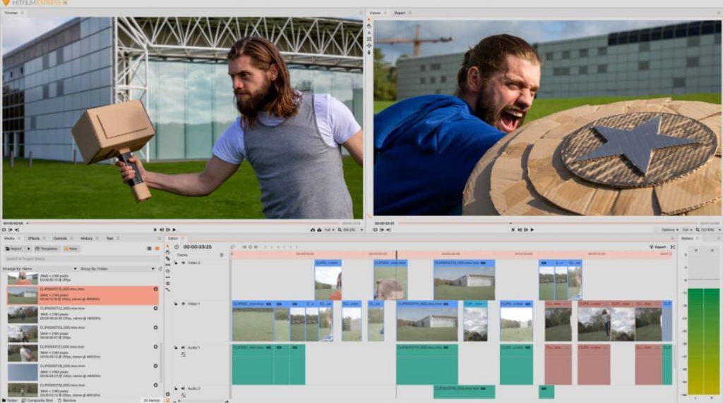hitfilm logiciel montage video