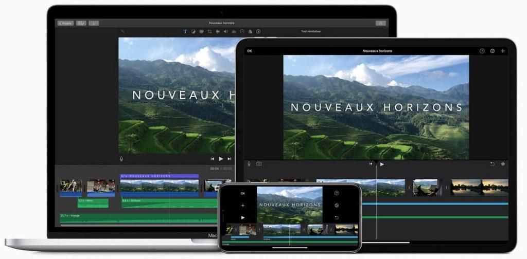 imovie logiciel montage video gratuit Mac et iOS