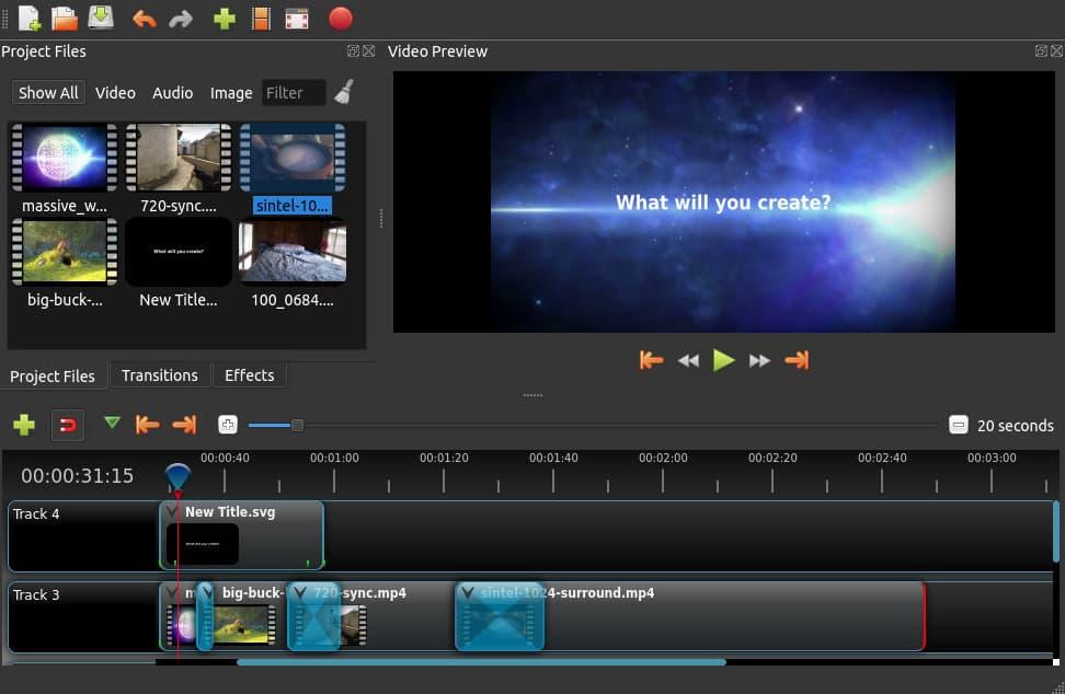 openshot montage video gratuit