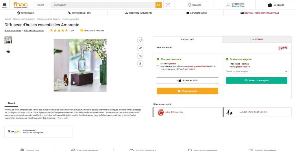 personnalisation e-commerce fnac