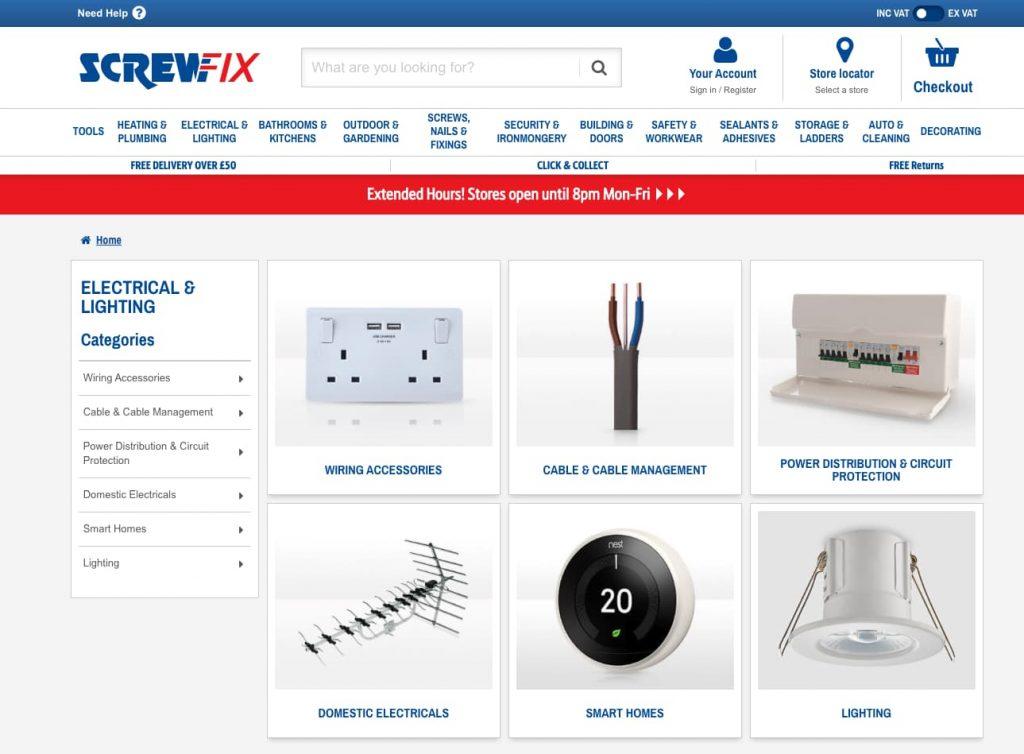 screwfix personnalisation e-commerce
