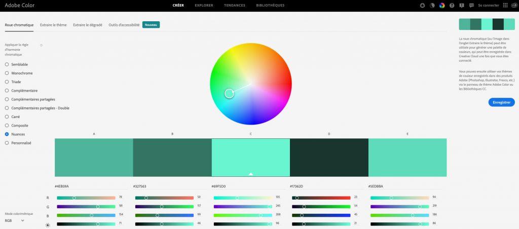adobe color cc palettes