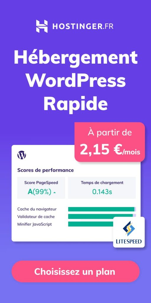 hébergement rapide wordpress