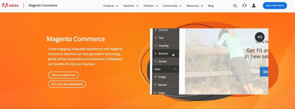 magento CMS e-commerce
