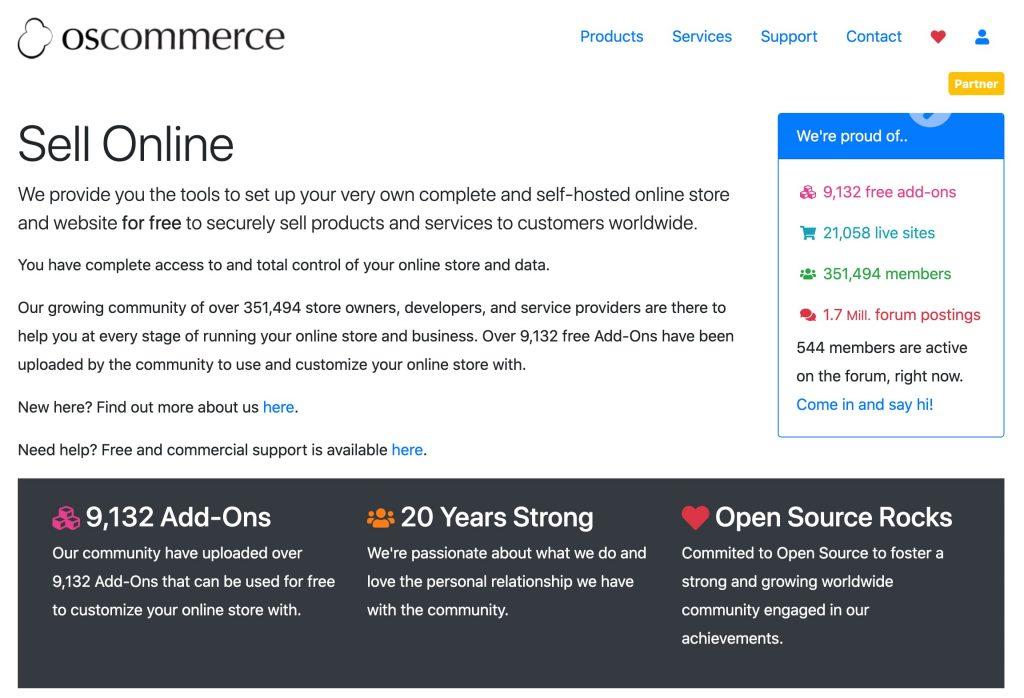 oscommerce e-commerce