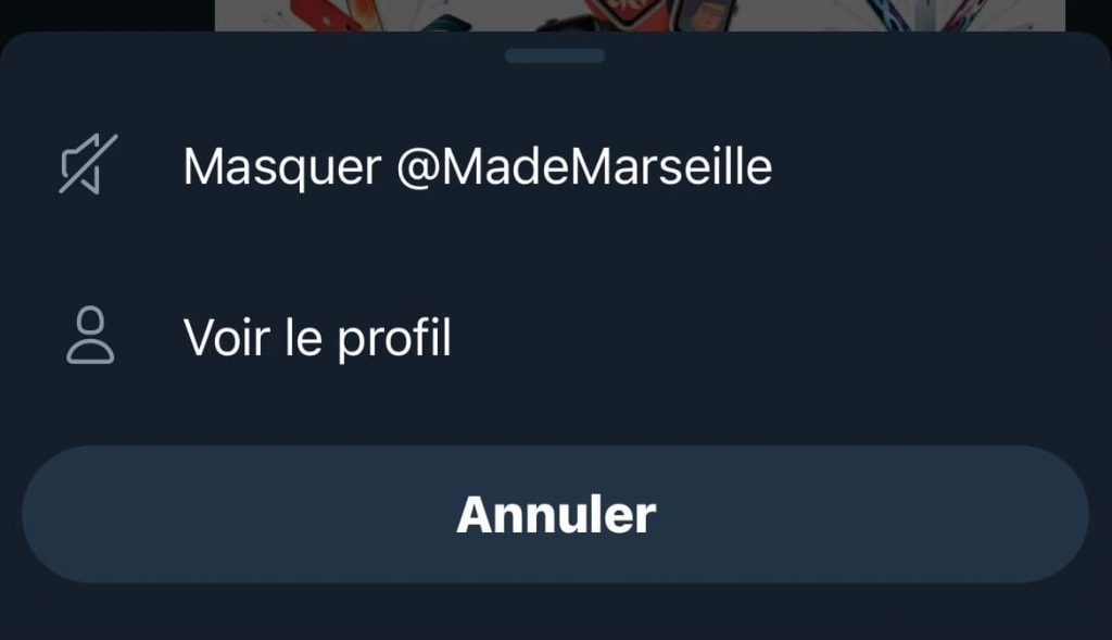 masquer compte fleets twitter