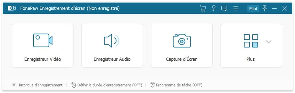 fonepaw interface enregistreur d'ecran