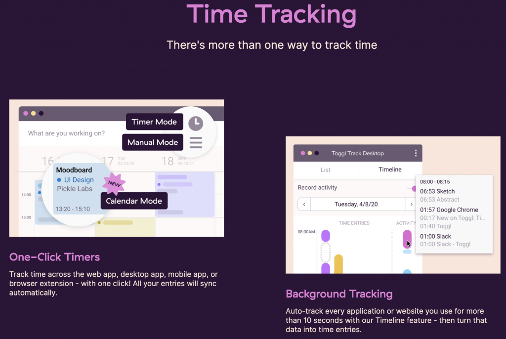 toggle time tracking