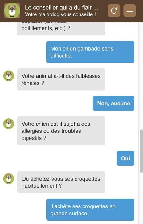 chatbot croquetterie Noci