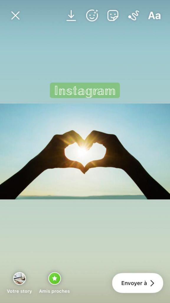 changer police instagram story