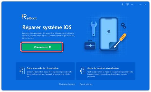 reiboot réparer iphone écran noir