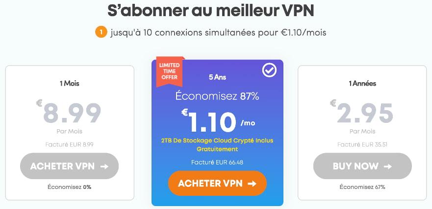 abonnement prix vpn ivacy