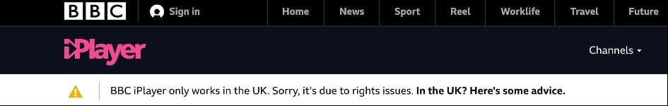 bbc iplayer vpn