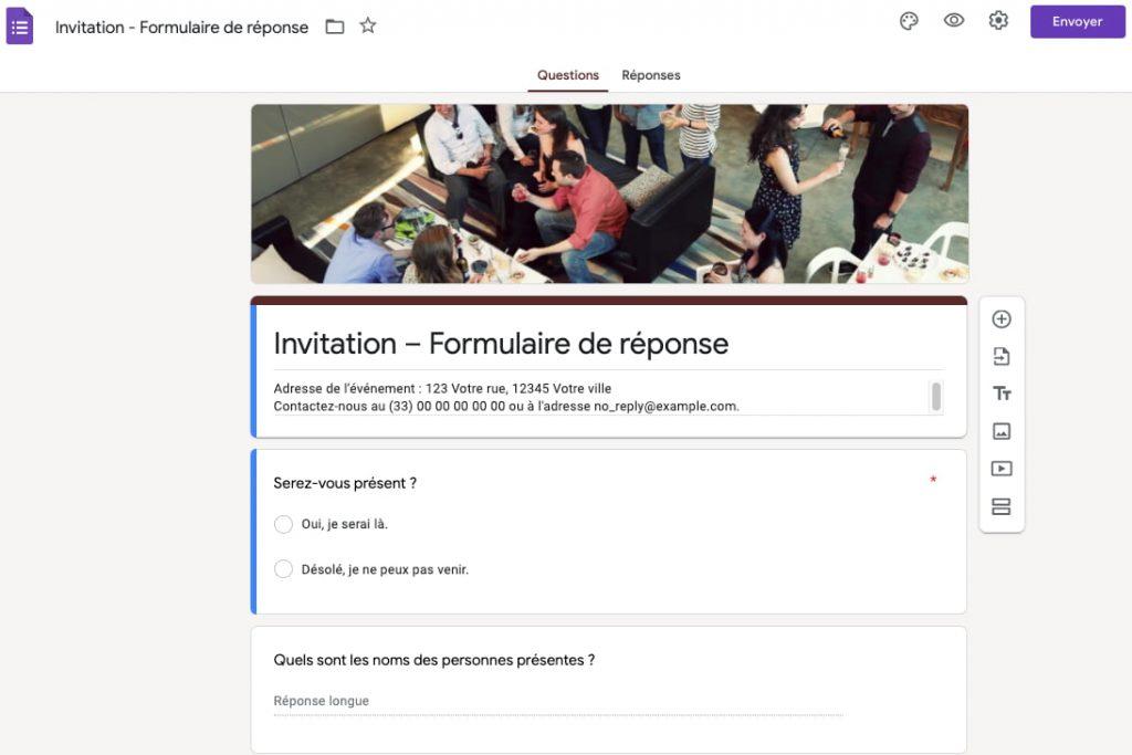 créer questionnaire en ligne gratuit google forms