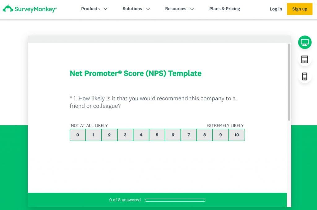 outil questionnaire en ligne SurveyMonkey