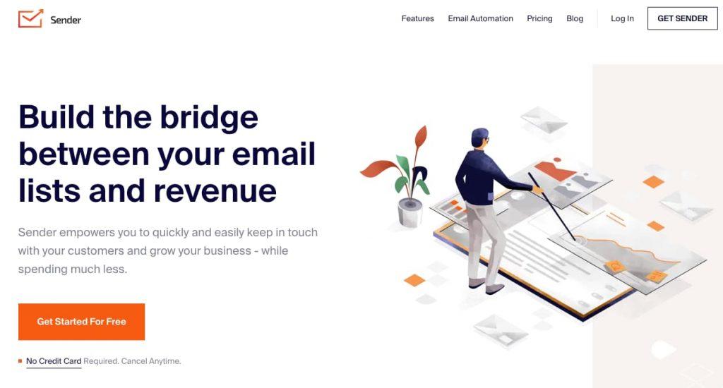 sender net emailing gratuit