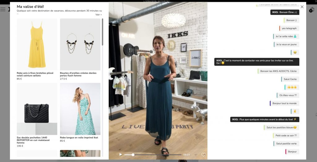 shopping party ikks exemple