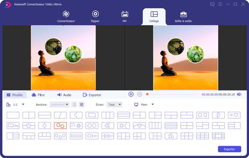 pzrtzger écran avec aiseesoft video converter ultimate
