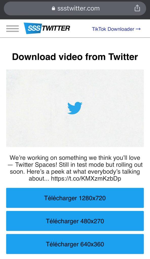 télécharger vidéo twitter iphone