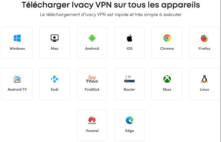 télécharger vpn ivacy devices