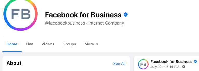 certification page facebook exemple