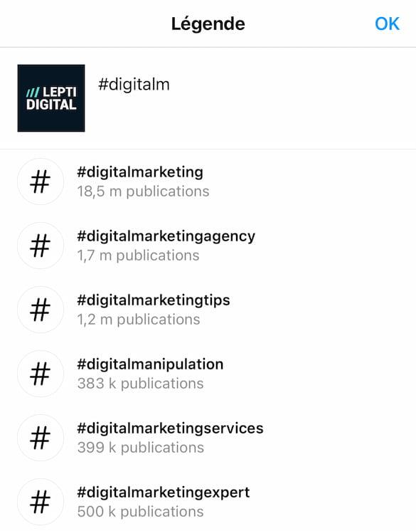 generateur hashtags instagram officiel