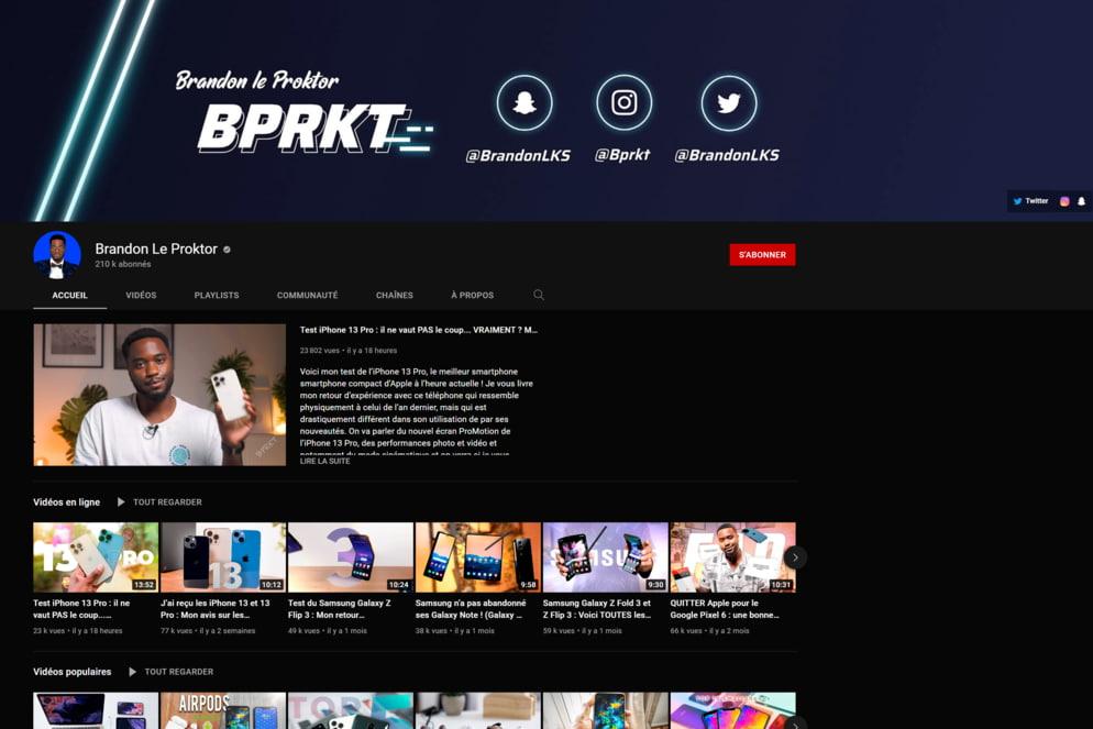 Chaîne YouTube de Brandon Le Proktor