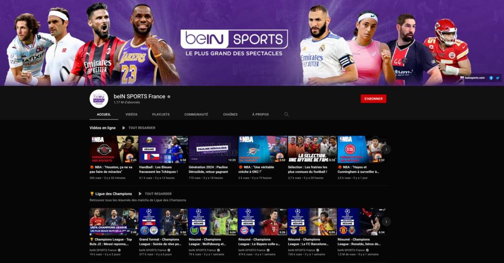 Chaîne YouTube beIN SPORTS France